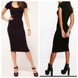 Dresses & Skirts - Black Best fitting shirt sleeves midi dress